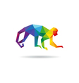 Monkey abstract triangle design element vector image
