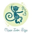 Monkey Chinese Zodiac Sign vector image