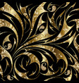 paisley seamless gold floral pattern vector image vector image