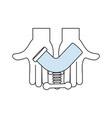 pipe plumbing symbol vector image vector image