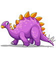 Purple dinosaur with spikes tail vector image vector image