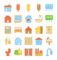 Real Estate Colored Icons 5 vector image vector image