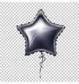 realistic star shape balloon with lace vector image
