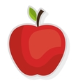 red apple fruit graphic