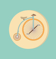 retro bicycle icon Symbol of transport Icon of a vector image vector image