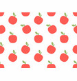 seamless pattern with apple vector image vector image