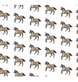seamless pattern with horses vector image