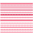 set laces vector image vector image