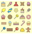 Set of sweet food icons set Tasty collection of vector image vector image