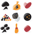 Smooth game and gambling icons vector image