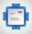 Square infographic template with blue color