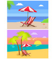 summer beach rest colorful vector image vector image