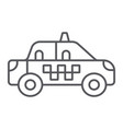taxi thin line icon transportation and auto cab vector image vector image