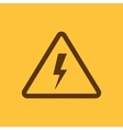 The lightning icon Danger symbol Flat vector image vector image