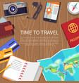 time to travel poster set vector image vector image