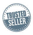 trusted seller sign or stamp vector image vector image