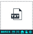 txt file icon flat vector image vector image