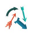 vintage arrows in flat style icon vector image vector image