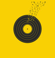 vinyl record music vector image vector image