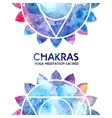 Watercolor chakras background vector image vector image