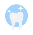 white tooth icon vector image
