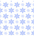 Winter pattern with snowflakes