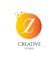 z letter logo design z icon colorful and modern vector image vector image