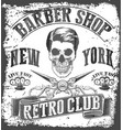 vintage barber shop tee graphic vector image