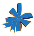 image of a blue bow vector image