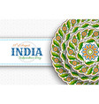 15th august india independence day greeting vector image vector image