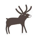 a cute surprised deer on white background vector image vector image