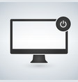 a personal computer with power on off button vector image vector image