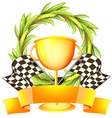A trophy with an empty label vector image vector image