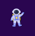 astronaut in space suit is floating in vector image