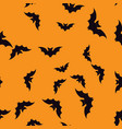 bat halloween pattern seamless color vector image