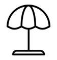 beach umbrella line icon parasol vector image vector image