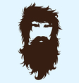 Bearded man vector image