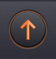 black up button with orange arrow vector image vector image