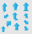 blue paper arrow stickers with shadows vector image vector image