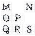 Broken Font m to s vector image