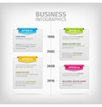 Business infographics with soft gray boxes and vector image vector image