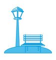 chair and street light vector image vector image