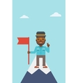 Cheerful leader businessman vector image vector image