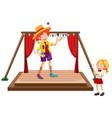 children watching juggling show vector image