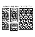 cnc geometric template set laser pattern set vector image vector image