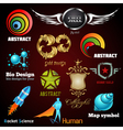 collection of glossy and 3d icons vector image vector image