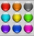 colored transparent glass balls set vector image vector image