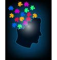 concept puzzle brain vector image