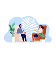 couple talking family home time man and woman vector image
