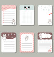 cute cards or stickers with cats cute cards or vector image vector image